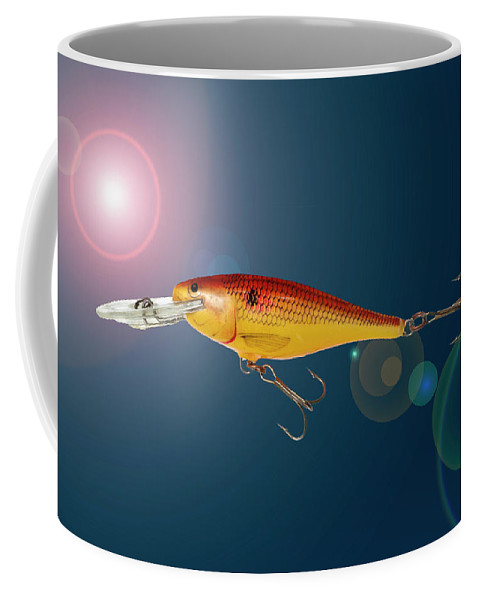 Fishing Coffee Mug featuring the photograph Fishing Lure by Donald Erickson