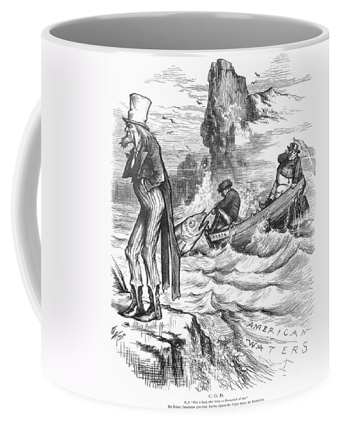1877 Coffee Mug featuring the photograph Fishing Rights, 1877 by Granger