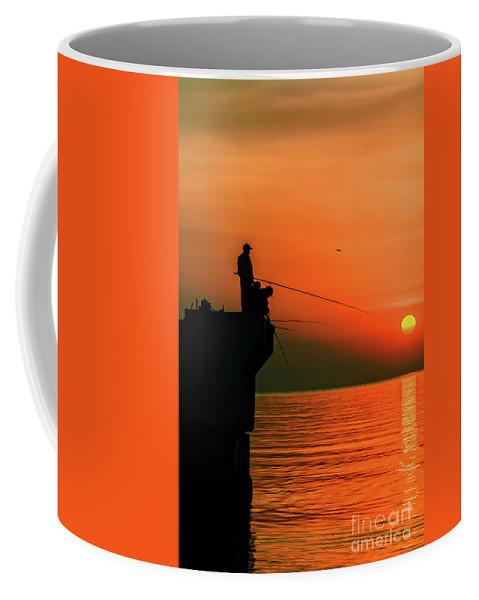 Sea Coffee Mug featuring the photograph Morning Fishing 2 by Viktor Birkus