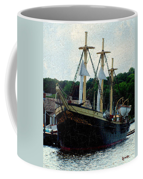 Antique Coffee Mug featuring the painting Fit And Trim by RC DeWinter