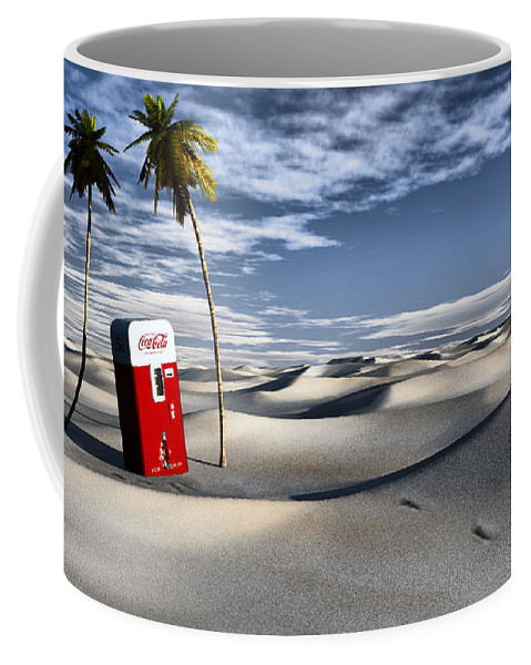 Deserts Coffee Mug featuring the digital art Five Cent Oasis by Richard Rizzo
