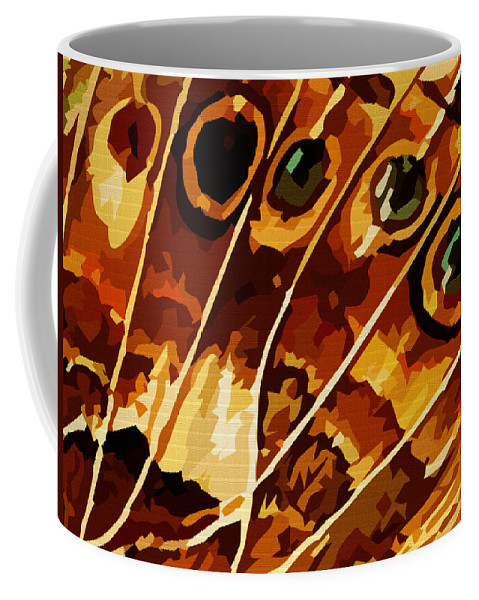 Butterfly Coffee Mug featuring the digital art Five Eyes by Max Steinwald