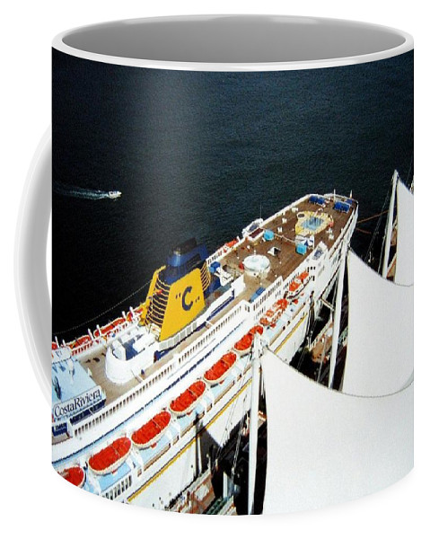 Five Sails Coffee Mug featuring the photograph Five Sails And A Ship by Will Borden