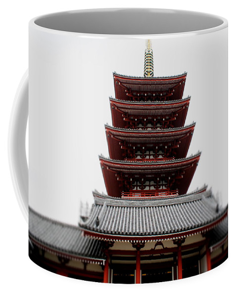 Tokyo Coffee Mug featuring the photograph Five-storied Pagoda - Senso-ji by Perggals - Stacey Turner