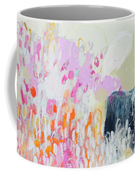 Abstract Coffee Mug featuring the painting Fizz by Claire Desjardins