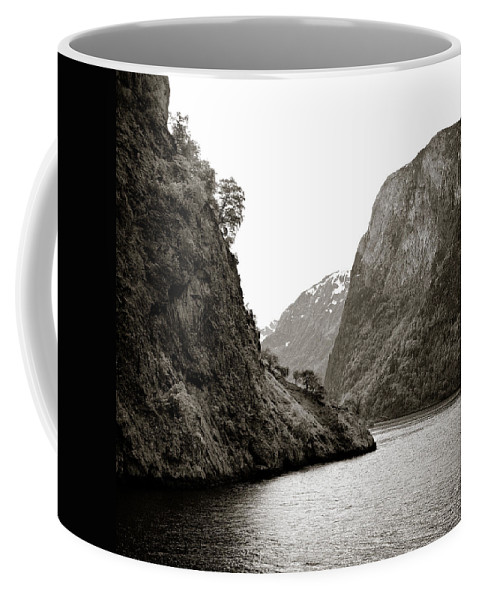 Norway Coffee Mug featuring the photograph Fjord Beauty by Dave Bowman
