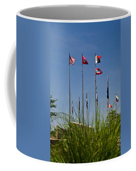 Flags Coffee Mug featuring the photograph Flags Flags Flags by Douglas Barnett