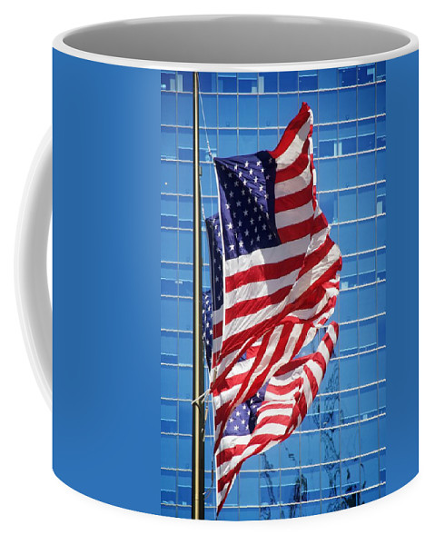 Alicegipsonphotographs Coffee Mug featuring the photograph Flags Flying by Alice Gipson