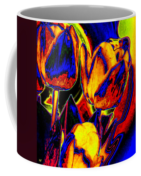 Abstract Coffee Mug featuring the digital art Flamboyant Tulips by Will Borden