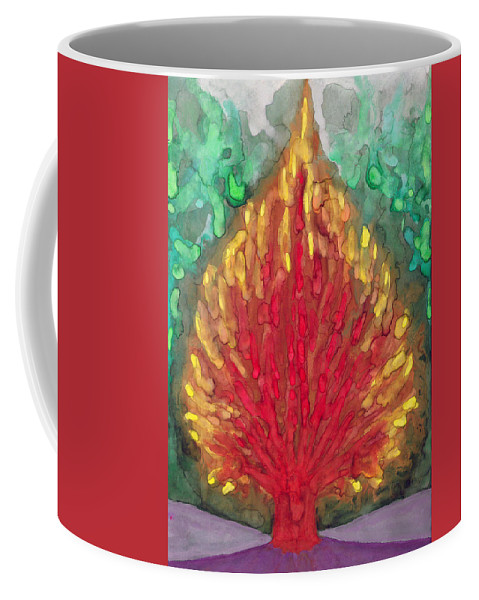Colour Coffee Mug featuring the painting Flame by Wojtek Kowalski