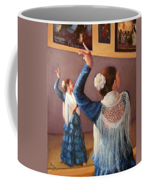 Realism Coffee Mug featuring the painting Flamenco 7 by Donelli DiMaria