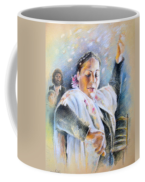 Music Coffee Mug featuring the painting Flamenco Dancer by Miki De Goodaboom