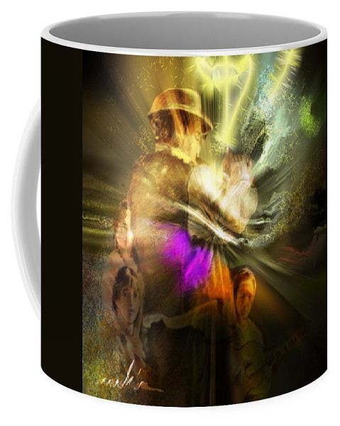 Spain Coffee Mug featuring the painting Flamenco by Miki De Goodaboom