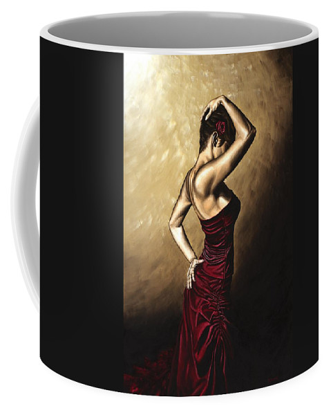 Flamenco Coffee Mug featuring the painting Flamenco Woman by Richard Young