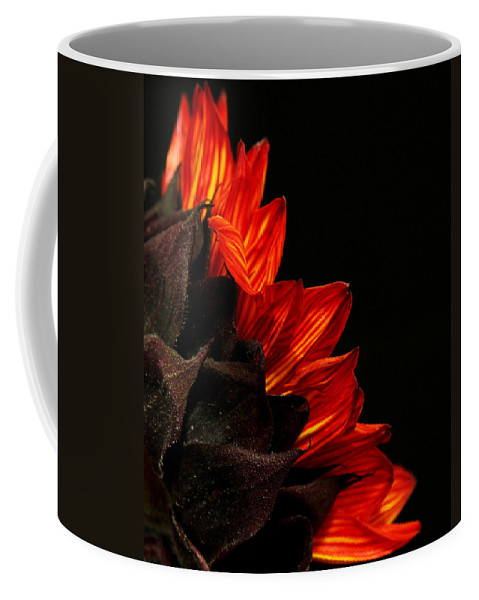 America Coffee Mug featuring the photograph Flames by Judy Vincent