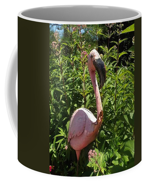 Flamingo Coffee Mug featuring the photograph Flamingo by Crystal Farris