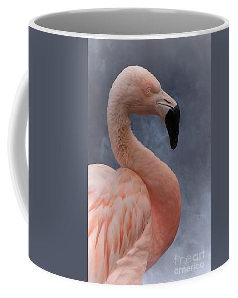 Animal Coffee Mug featuring the photograph Flamingo Profile by Mickey At Rawshutterbug