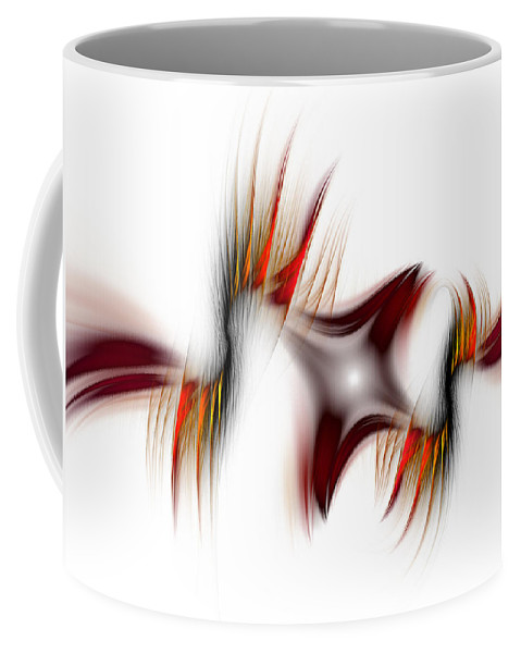 Abstract Coffee Mug featuring the digital art Flamme Flamme by Georgiana Romanovna