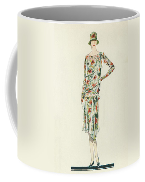 Flapper Coffee Mug featuring the painting Flapper In An Afternoon Dress by American School