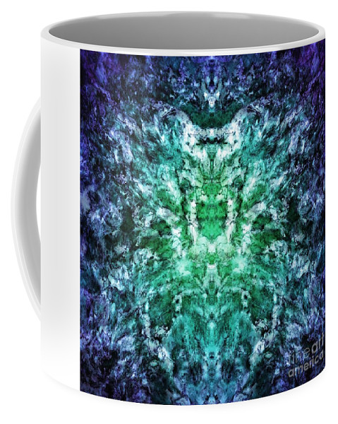 Abstract Coffee Mug featuring the digital art Flashecho by Keith Mills