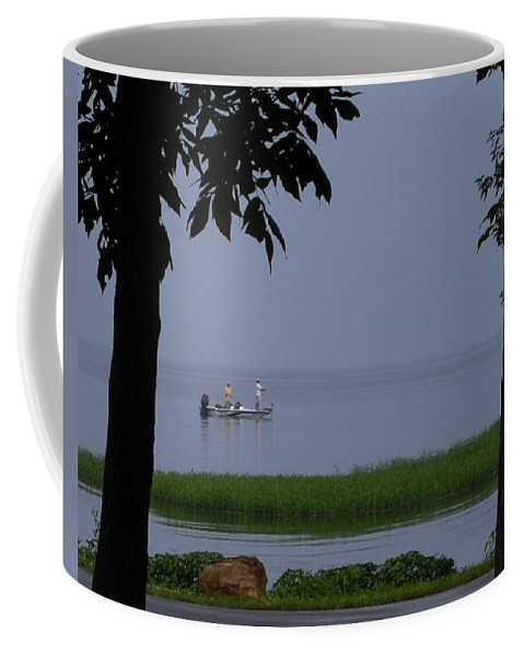 Fishing Coffee Mug featuring the photograph Flat Water Fishing by Lisa Kane