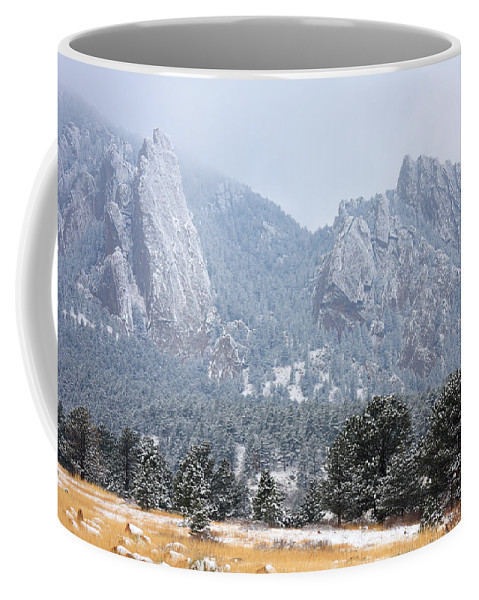Flatirons Coffee Mug featuring the photograph Flatirons by James BO Insogna