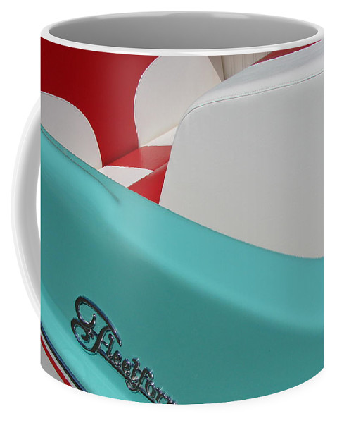 Boat Coffee Mug featuring the photograph Fleetform Powerboat Ll by Michelle Calkins