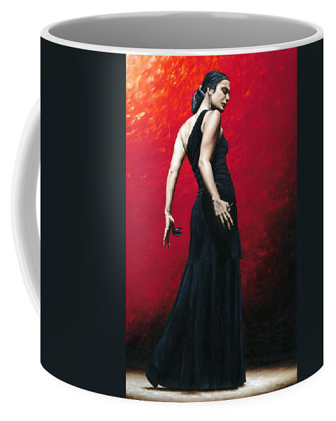 Dance Coffee Mug featuring the painting Flemenco Arrogancia by Richard Young