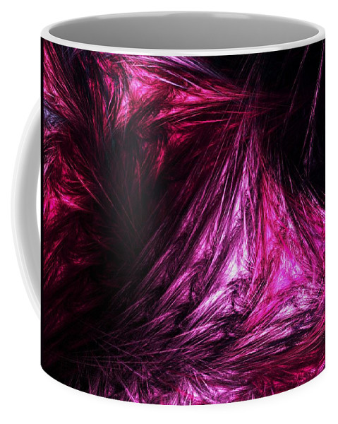 Abstract Digital Painting Coffee Mug featuring the digital art Flesh by David Lane