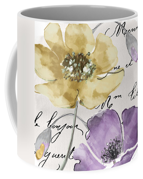Fleurs De France Coffee Mug featuring the painting Fleurs De France II by Mindy Sommers