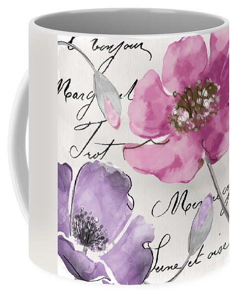 Fleurs De France Coffee Mug featuring the painting Fleurs De France IIi by Mindy Sommers