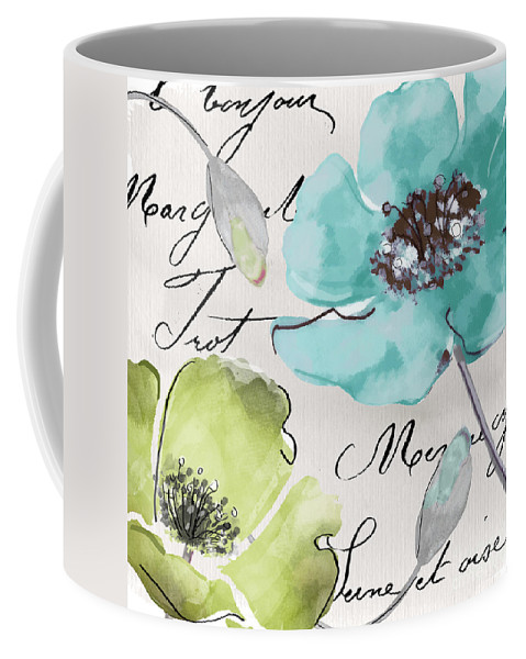 Fleurs De France Coffee Mug featuring the painting Fleurs De France by Mindy Sommers