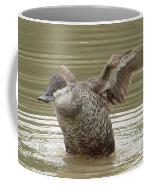 Duck Coffee Mug featuring the photograph Flexing by Tammie Sisneros
