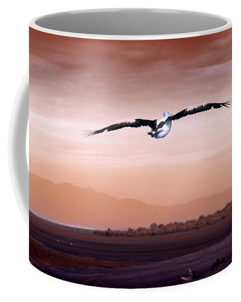 Animals. Birds Coffee Mug featuring the photograph Flight by Holly Kempe
