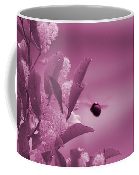 Pastel Pin Coffee Mug featuring the photograph Flight of Princess Bumble Bee by Colleen Cornelius