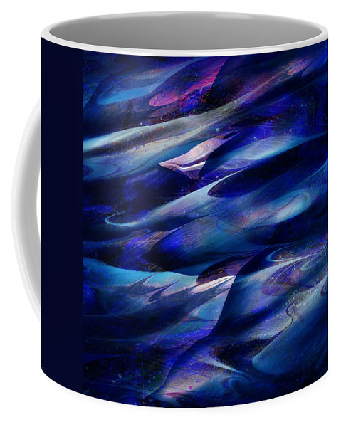 Abstract Coffee Mug featuring the digital art Flight by William Russell Nowicki