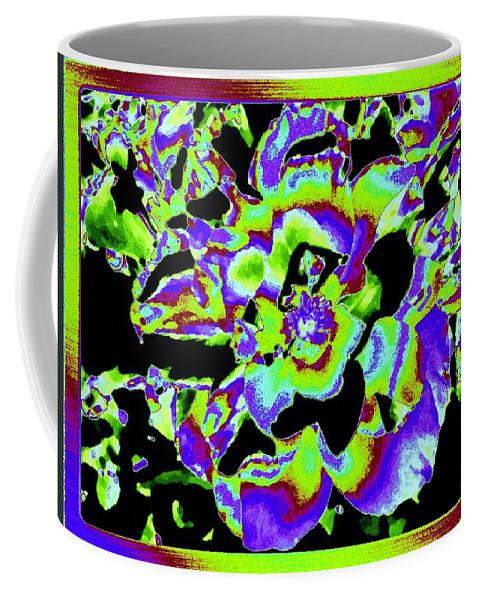Abstract Coffee Mug featuring the digital art Flin Flon Rose by Will Borden