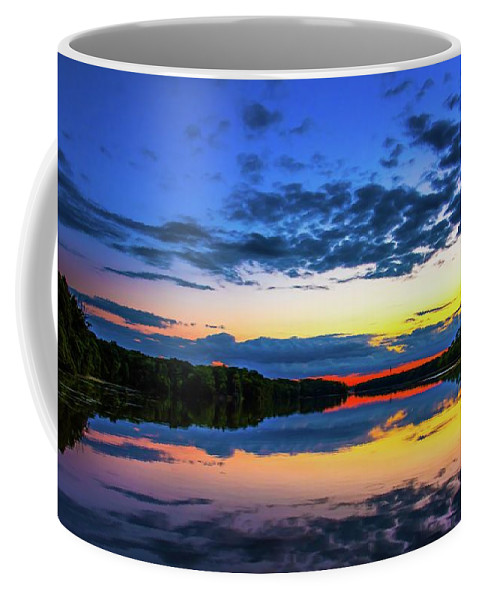 Flint River Coffee Mug featuring the painting Flint River Part Two by Michael Tucker