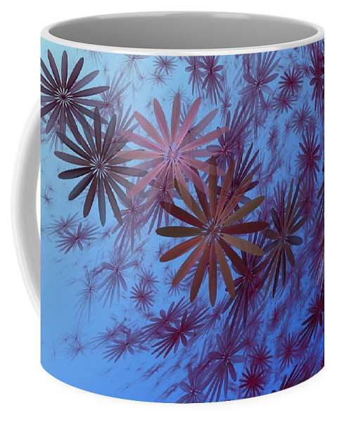 Fantasy Coffee Mug featuring the digital art Floating Floral - 001 by David Lane