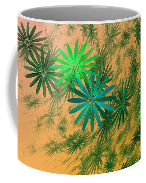 Coffee Mug featuring the digital art Floating Floral - 004 by David Lane