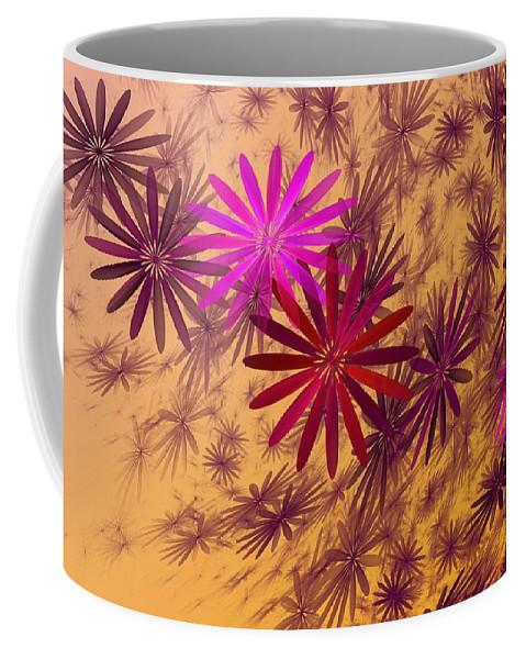 Fantasy Coffee Mug featuring the digital art Floating Floral - 005 by David Lane
