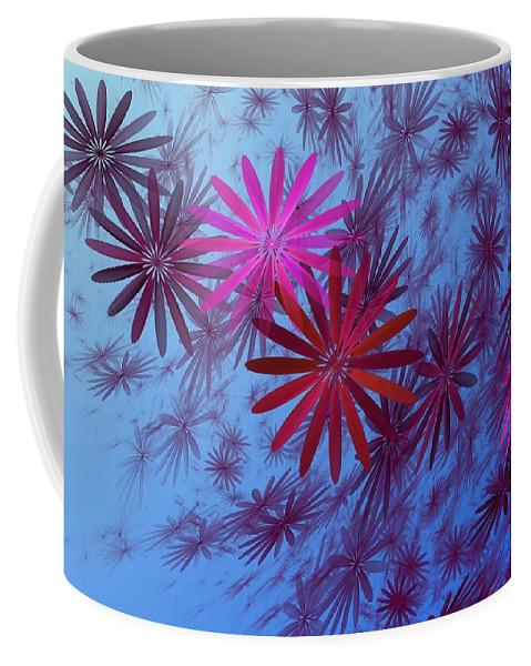Fantasy Coffee Mug featuring the digital art Floating Floral -003 by David Lane