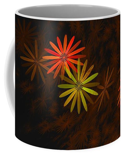 Digital Photography Coffee Mug featuring the digital art Floating Floral-008 by David Lane