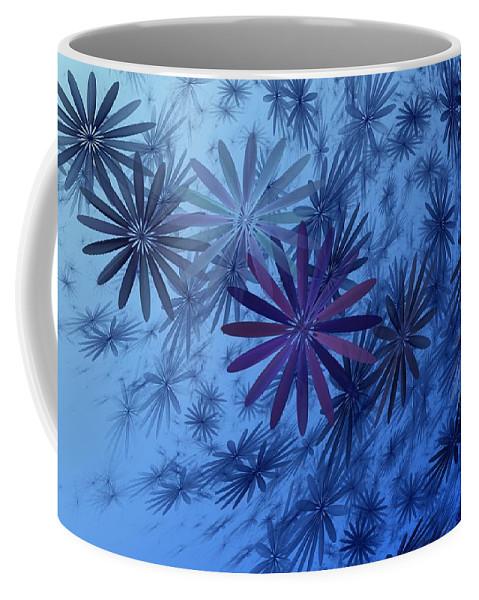 Digital Photography Coffee Mug featuring the digital art Floating Floral-010 by David Lane
