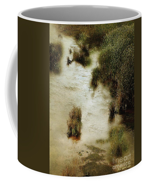 Autumn Coffee Mug featuring the painting Flood Tide In The Salt Marsh by RC DeWinter