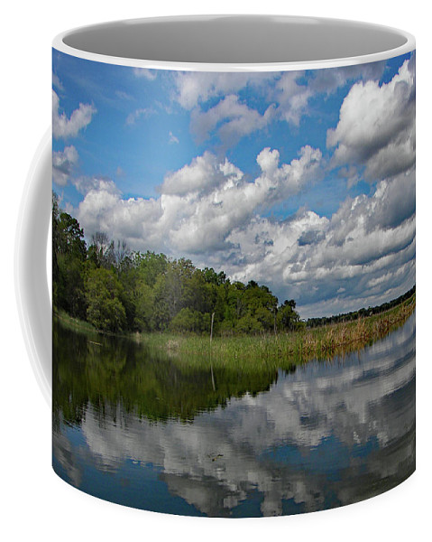 Reflection Coffee Mug featuring the photograph Flooded Low Country Rice Field by Jerry Griffin