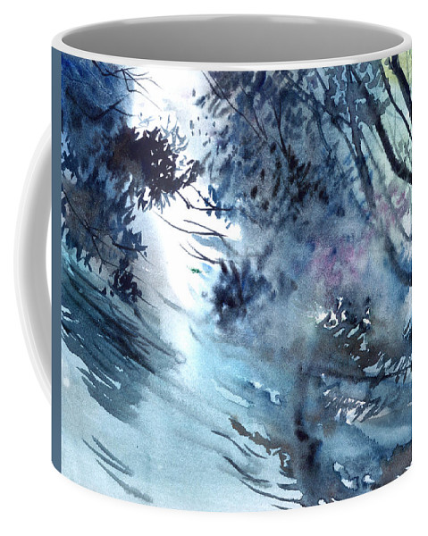 Floods Coffee Mug featuring the painting Flooding by Anil Nene