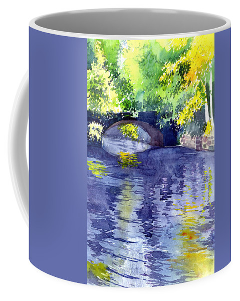 Nature Coffee Mug featuring the painting Floods by Anil Nene