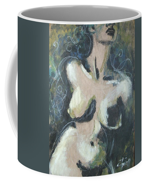 Flora Coffee Mug featuring the painting Flora by Carmen Tyrrell