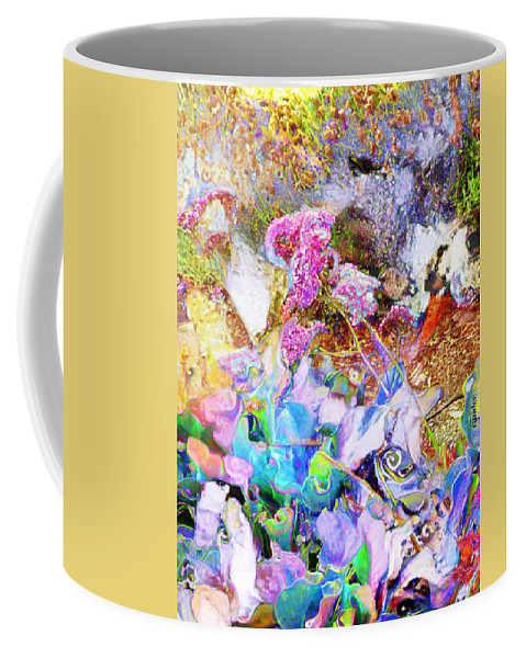 Impressionist Coffee Mug featuring the mixed media Florabelle by Candee Lucas